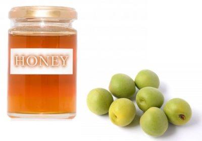 蜂蜜で作る梅ジュース