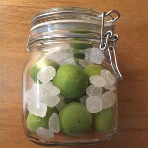 氷砂糖で作る梅シロップ